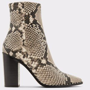 Aldo Snakeskin Ankle Boots